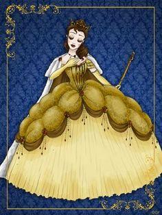 """O ilustrador italiano Gabriele, resolveu transformar as princesas Disney em rainhas na série de ilustração """"Disney Queen Designer Collection"""". O resultado ficou sensacional e os vestidos magníficos. Que coisa linda! Eu amei o estilo medieval dos vestidos, coroas e maquiagens. Eu estou encantada e apaixonada pelo vestido da Bela, que é o mais bonito e …"""