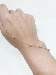 Dainty Balls Gold Bracelet / Solid Gold Bracelet or Anklet / Gold Bracelet for Women / Charm Bracelet /White Gold Bracelet / Rose Gold Solid Gold Bracelet, Gold Bracelet For Women, 14k Gold Ring, Sterling Silver Rings, Turquoise Jewelry, Anklet, Conversation, White Gold, Rose Gold