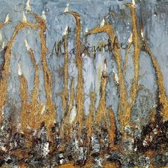 Margarete (1981) by Anselm Kiefer ( Oil and bundles of straw on canvas 280 x 380 cm ) #painting #landscape