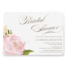 Romantic Peony Flower Bridal Shower Invitation in blush pink. ♥ More bridal shower invitations at http://www.zazzle.com/bridal+shower+invitations?ps=120&rf=238252963030229232&tc=wpz ♥