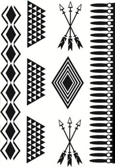 Product Information Product Type: Set of 5 Arrow Temporary Tattoos Arrow Size: 21cm(L)*15cm(W) Tattoo Application & Removal With proper care and attention,