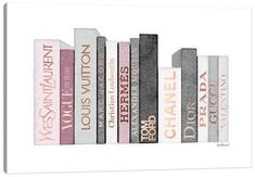 Chanel Wall Art, Canvas Prints & Paintings   iCanvas Canvas Artwork, Canvas Art Prints, Canvas Frame, Canvas Wall Art, Canvas Size, Gold Book, Watercolor Walls, Pink Tone, Fashion Books