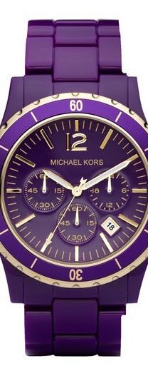 PURPLE Michael Kors watch  OBSESSED.