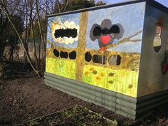 Bird hide and photo from Middleton St Mary's School