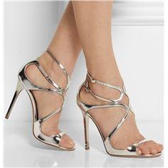 Pure White Straps High Heel Summer Sandals