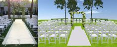 Outdoor wedding by Evantine Design, Inc. Come walk around in 3D! http://www.eventsclique.com/eventdesigner/Main2.html?p=268911135