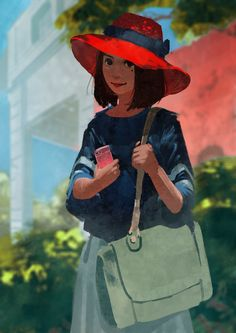Girl with Red Hat by Kevin-Glint