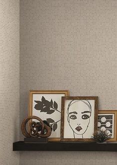 Modern Art Wallpaper Bookends, Modern Art, Dots, Wallpaper, Frame, Design, Home Decor, Stitches, Picture Frame