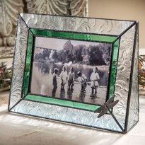 J. Devlin Glass Picture Frame with dragonfly