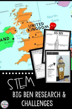 STEM Around the World: Big Ben connects Social Studies and Engineering Design Challenges. (third, fourth, fifth, Grade 3,4,5) Students will enjoy researching and learning about Big Ben and its history as they create a model of it. Great to add to Christmas Around the World. Students love designing, creating, & engineering. Students will problem solve and think critically as they complete the activities and research about The Famous Landmark: Big Ben.