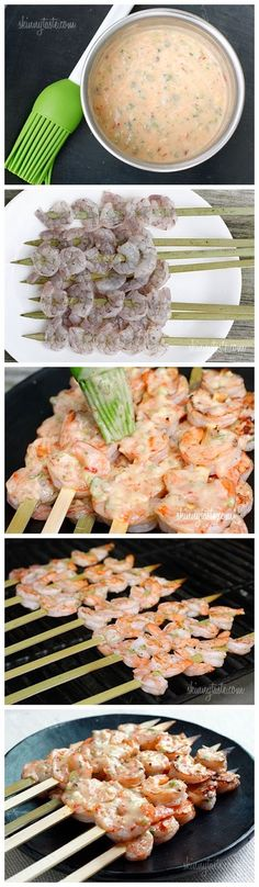 Bangin' Grilled Shrimp Skewers.  2 1/2 tbsp light mayonnaise 2 tbsp scallions, chopped fine 1 1/2 tbsp Thai Sweet Chili Sauce 1/2 tsp Sriracha (or to taste)