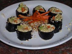 this vegan life: Raw Sushi .. LOVE IT  Sushi using parsnips as the rice!
