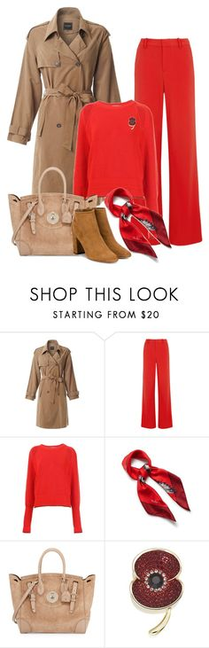 """""""Red Sweater"""" by danewhite ❤ liked on Polyvore featuring LE3NO, Alice + Olivia, Givenchy, Mulberry, Ralph Lauren and Aquazzura"""