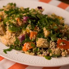 Grilled Vegetable Salad and Cous Cous - Recetas Saludables Quick Healthy Meals, Healthy Salads, Easy Meals, Healthy Eating, Lamb Recipes, Vegan Recipes, Cooking Recipes, Grilled Vegetable Salads, Vegetarian Recipes