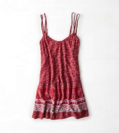 AEO Double Strap Slip Dress  would look cute with black or charcoal leggings and a neutral light button-up sweater