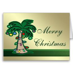 Get Here Palm Tree Photo Christmas Cards
