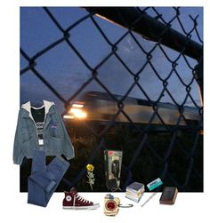 """""""night walks"""" by pizzamilkshake ❤ liked on Polyvore featuring Authentic Models, Converse, Pier 1 Imports and Miss Selfridge"""