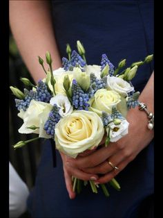 Avalanche and grape hyacinth bouquet