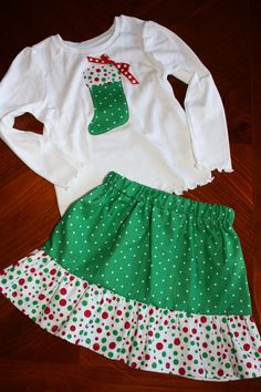 Christmas Stocking Outfit on Etsy, $30.00