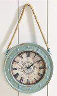 """Blue Nautical Clock with Rope Hanger - 15.8""""x27.6"""""""