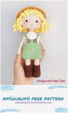 Crochet Monkey Pattern, Doll Amigurumi Free Pattern, Crochet Dolls Free Patterns, Amigurumi Doll, Kawaii Crochet, Cute Crochet, Crochet Baby Toys, Free Candy, Crochet Projects