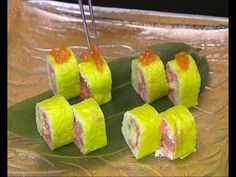 How To Make Alaskan Sushi Rolls - YouTube