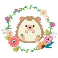 The poster for character cute hedgehog sitting vector image on VectorStock Disney Stitch, Woodland Animals Theme, Cute Hedgehog, Dibujos Cute, Watercolor Paintings, Watercolor Trees, Watercolor Portraits, Watercolor Landscape, Abstract Paintings