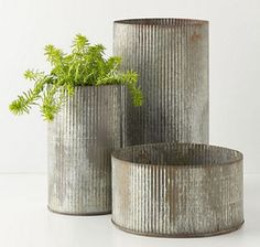 Anthropologie Ridged Zinc Pots | Photo Gallery: Cottage-Style Decorating Finds | House & Home