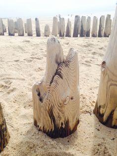 Buhnen Skulpturen bei Rantum