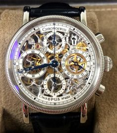 CHRONOSWISS OPUS CH 7523 S / 38MM / SKELETON / CHRONOGRAPH / AUTOMATIC / GREAT #Chronoswiss
