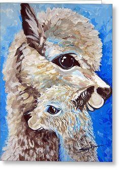 River Ridge Alpaca Canvas Print / Canvas Art by Patty Sjolin Alpacas, Alpaca Drawing, Painting & Drawing, Watercolor Paintings, Llama Arts, Canvas Art, Canvas Prints, Animal Paintings, Illustrations