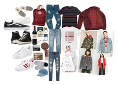 """""""Outfits for indie ppl"""" by alexggee on Polyvore featuring adidas, Converse, Vans, WithChic, Fjällräven, Fred Perry, OneTeaspoon, Brixton, Sakdidet Road and Sony"""