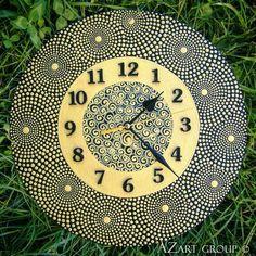 Nectar wooden mandala clock from AZart_Group by DaWanda.com