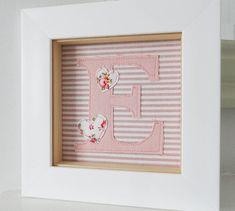 Girls Framed Embroidered Initial Artwork from notonthehighstreet.com