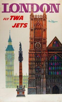 Big Ben ... Artwork TWA Ad.