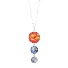 Look what I found at UncommonGoods: earth, moon and sun sterling silver necklace... for $75 #uncommongoods