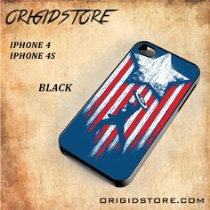 Captain America ClassicSnap on Black White and 3D Iphone 4/4S Case