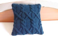 Custom chunky blue navy cushion cover nautical by Adorablewares, $45.00