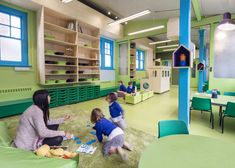 Aberrant Architecture adds playful furnishings and colours to school