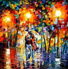 Leonid Afremov, Oil paintings.