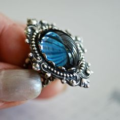 Mystic Falls  - VIctorian Goth Swarovski Cameo Ring - SOLDERED - Made in USA brass on Etsy, $26.00