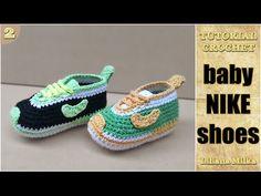 Baskets bébé 2/2 / Zapatitos bebe a crochet parte - YouTube