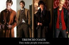 Trench coats are cool