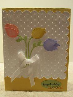 Stampin' Up! Bird Punch Tulips