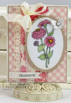 Mother's day card for Mom.  I ordered the zinnia stamp!
