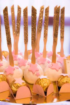 Twinkle twinkle little star birthday party cake pops! See more party ideas at CatchMyParty.com!