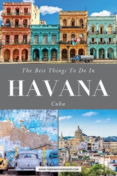 Brilliant Things to do in Havana, Cuba Havana, Cuba Travel Guide. The best things to do in Havana - what to do, where to eat and where to stay in Havana. Check them out! Havana Photography Destinations I Havana Architecture I Havana Things to do Cool Places To Visit, Places To Travel, Travel Destinations, Travel Diys, Travel Flights, Travel Essentials, Budget Travel, Havana Cuba, Cuba Travel