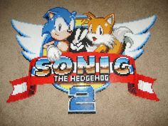 Sonic the Hedgehog 2 Perler Beads Title Logo....wow this is killer!!