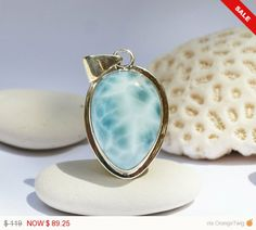1 Week Sale  Larimar Aqua Blue Marbled Upside Down by MyBeachStore