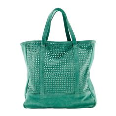 Perforated Leather Bag by Avril Gau for La Redoute Avril Gau, Green Fashion, Luggage Bags, Bag Making, Women's Accessories, Leather Bag, Shoe Boots, Tote Bag, Purses